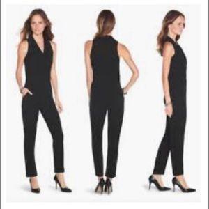 White House Black Market Sleeveless Jumpsuit Black
